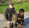 Ian Griffith's with Barry's 2 year old Rottweiler